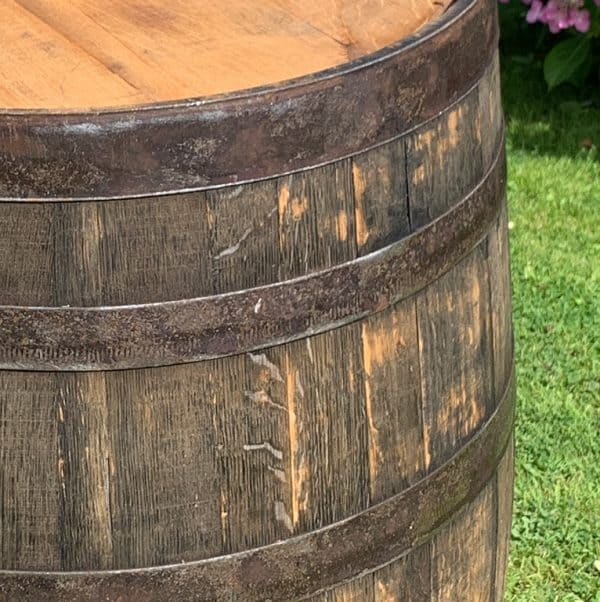 Wooden whisky barrel