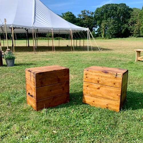 Jaques & Co - Pair of old wooden grain boxes