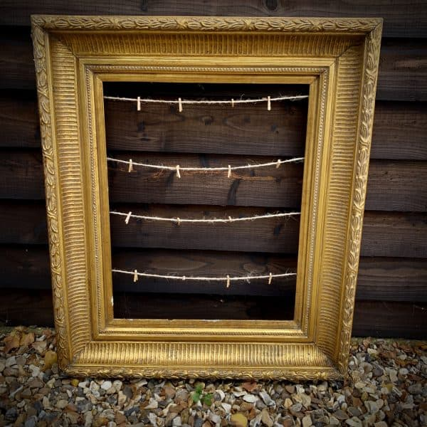 Vintage / rustic style picture frame to be used on easel for a wedding table plan or similar