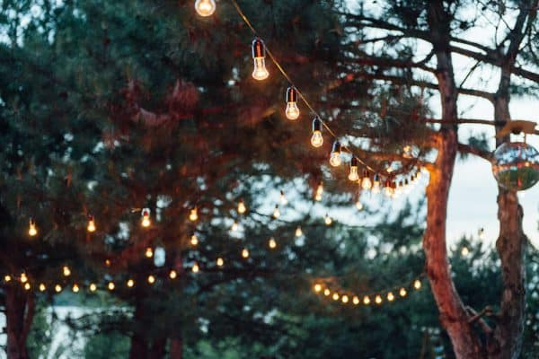 Festoon String lighting for hire from Jaques & Co