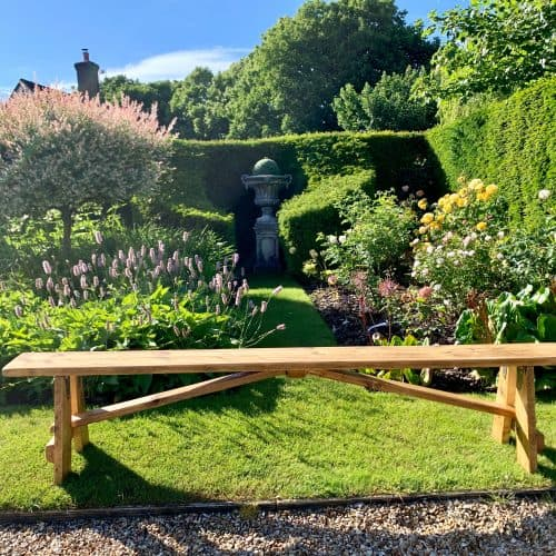 Wooden rustic benches for hire