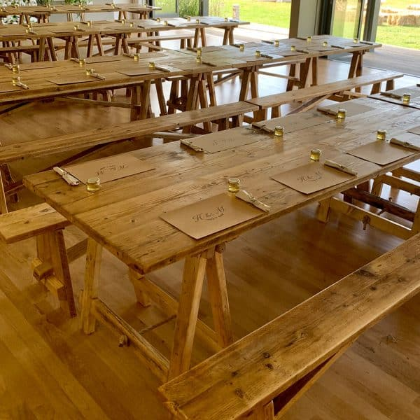 Table and chairs for hire
