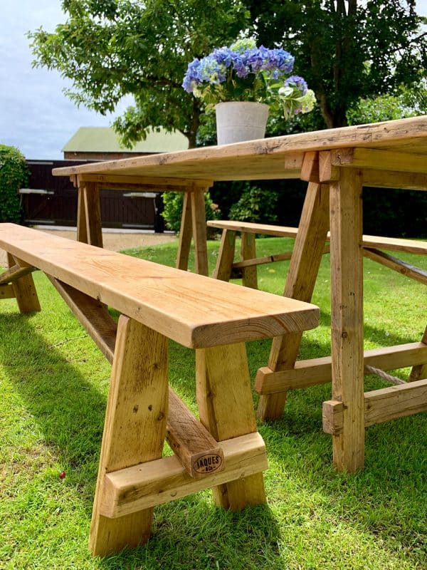 Tables and benches for event hire