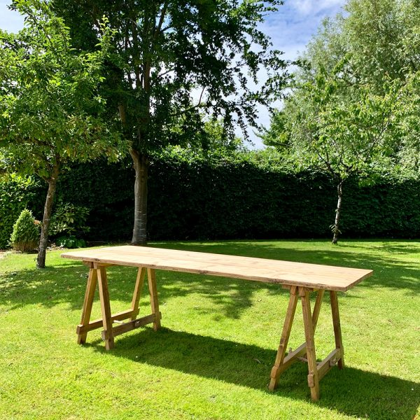 Wooden Trestle Tables for hire