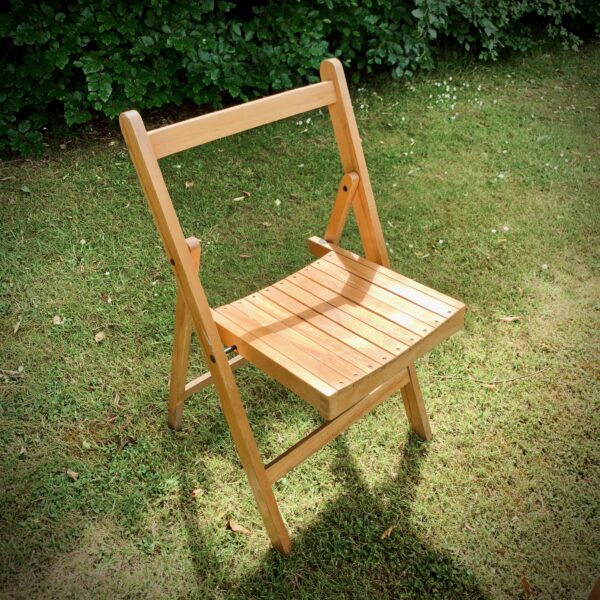 Wooden Folding Chairs for Hire